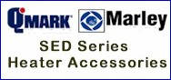 Qmark Shallow Mount Wall Heater