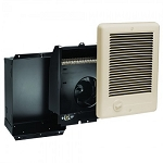 Cadet CSC101TA Com-Pak Fan Forced Wall Heater - Complete with grill, back-box and thermostat - 120 Volts - 1000 Watts - Almond