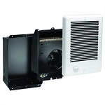 Cadet CSC101TW Com-Pak Fan Forced Wall Heater - Complete with grill, back-box and thermostat - 120 Volts - 1000 Watts - White