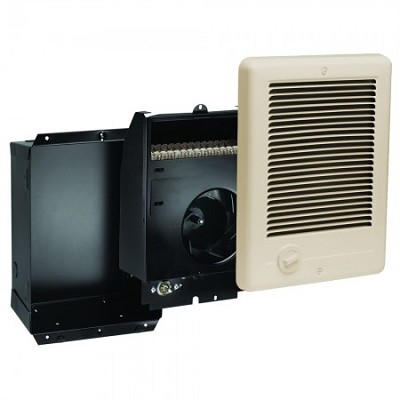 Cadet CSC202TA Com-Pak Fan Forced Wall Heater - Complete with grill, back-box and thermostat - 208/240 Volts - 1500/2000 Watts - Almond