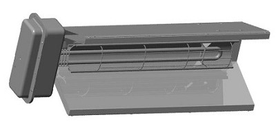 Chromalox STAR-02A-71-F ChromaStar™ Fixed Overhead Infrared Radiant Heater - 2000 Watts (2.0 kw) - 277 Volts
