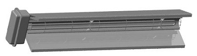 Chromalox STAR-05A-61-F ChromaStar™ Fixed Overhead Infrared Radiant Heater - 4500 Watts (4.5 kw) - 600 Volts - Single Phase