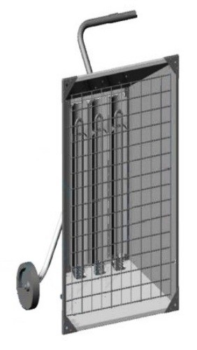 Portable Electric Radiant Floor Heating For Under Area: Chromalox STAR-14A-83-P ChromaStar™ Portable Infrared
