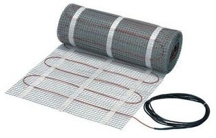 Danfoss Floor Heating - 088L3184 - LX Mat - 60 ft length - 10 Year Warranty