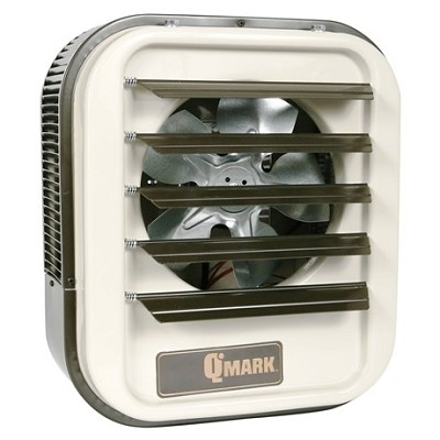 Qmark MUH078 Electric Fan Forced Horizontal Blower Unit Heater - 7500 watts (7.5 kw) - 208 Volts -  Single/Three Phase
