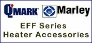 Qmark / Marley EFFTR4 208-240 VAC Primary / 24 VAC Secondary Transformer & Relay For EFF Ceiling Heaters