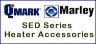 Qmark / Marley SEDSM Northern White Surface Mounting Frame For SED Series Shallow Mount Wall Heaters