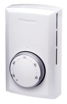 Dimplex TS321W/TS521W Single Pole Line Voltage Wall Thermostat